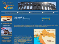 Frontpage screenshot for site: Smještaj i nekretnine u Hrvatskoj - Dalmacija, Istra i Kvarner (http://www.dalmatiancoast.com/holidays/hr/)