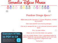 Frontpage screenshot for site: Djed Mraz online (http://www.gizdic.com/djedmraz)
