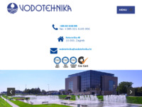Frontpage screenshot for site: Vodotehnika d.d. (http://www.vodotehnika.hr/)
