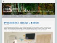 Slika naslovnice sjedišta: Specijalna bolnica za kronične bolesti dječje dobi Gornja Bistra (http://www.bolnica-bistra.hr/)