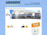 Frontpage screenshot for site: Praonica kamiona Sarunović (http://www.sarunovic.hr/)