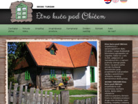Frontpage screenshot for site: Etno kuća pod Okićem (http://www.etno-kuca.hr)