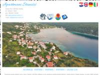 Frontpage screenshot for site: Otok Rab - smještaj u privatnim apartmanima na moru (http://www.apartmani-stanicic.net/)
