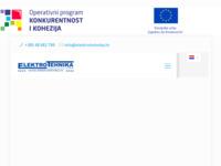 Frontpage screenshot for site: Elektrotehnika d.o.o. Križevci (http://www.elektrotehnika.hr/)