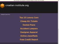 Frontpage screenshot for site: Hrvatski Etnički Institut (http://www.croatian-institute.org/)