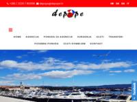 Frontpage screenshot for site: Turistička agencija Depope (http://www.depope.hr)