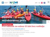 Frontpage screenshot for site: Vladimir Nazor d.o.o. (http://www.nazor.hr/)