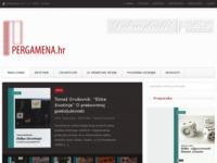 Frontpage screenshot for site: Pergamena d.o.o (http://www.pergamena.hr/)
