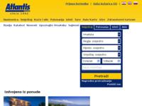 Frontpage screenshot for site: Atlantis travel Croatia (http://www.atlantis-travel.hr/)