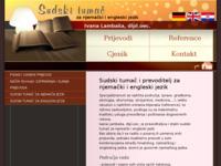 Frontpage screenshot for site: Sudski tumač za engleski i njemački jezik (http://www.sudski-tumaci.info)