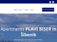 Frontpage screenshot for site: Apartmani Plavi biser (http://www.plavibiser.com/)