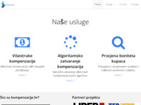 Frontpage screenshot for site: Online kompenzacije (http://www.kompenzacije.hr/)