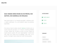 Frontpage screenshot for site: (http://www.delfin.com.hr/)