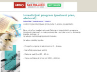 Frontpage screenshot for site: Poslovni plan (Investicijski program, elaborat) (http://elaborat2.tripod.com/)