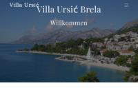 Frontpage screenshot for site: Apartmani Brela (http://www.villaursic.com/)