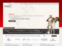 Frontpage screenshot for site: (http://www.jupiter-software.com/)