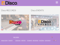 Frontpage screenshot for site: www.disco.hr (http://www.disco.hr)