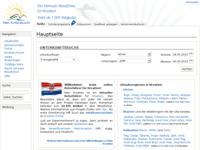 Slika naslovnice sjedišta: Njemački vodič za Hrvatsku (http://www.mein-kroatien.info/)