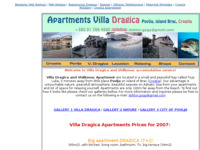 Frontpage screenshot for site: Apartmani Villa Dragica - Otok Brač (http://apartments.pondi.hr/)