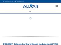 Frontpage screenshot for site: Allvar d.o.o. (http://www.allvar.hr)