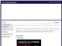 Slika naslovnice sjedišta: Automehanika d.d. (http://www.automehanika.hr)