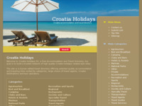 Frontpage screenshot for site: Croatia Holidays (http://www.croatiaholidays.biz)