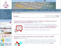 Slika naslovnice sjedišta: Hrvatsko knjižničarsko društvo (http://www.hkdrustvo.hr/)