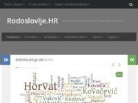 Frontpage screenshot for site: Rodoslovlje.hr - Hrvatsko rodoslovno društvo Pavao Ritter Vitezović (http://www.rodoslovlje.hr/)