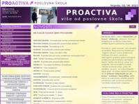 Slika naslovnice sjedišta: Poslovna škola (http://proactiva.hr/)