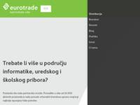 Frontpage screenshot for site: Eurotrade d.o.o. (http://www.eurotrade.hr/)