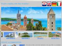 Frontpage screenshot for site: Otok Rab - smještaj u privatnim apartmanima na moru (http://www.otokrab.org)