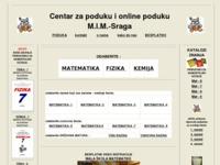 Slika naslovnice sjedišta: Skripte za pripremu prijemnih ispita, besplatne matematičke formule (http://www.mim-sraga.com/)