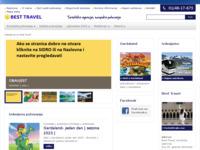 Frontpage screenshot for site: Best travel, Zagreb (http://www.besttravel.hr/)