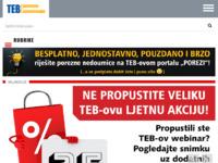 Slika naslovnice sjedišta: TEB poslovno savjetovanje d.o.o. (http://www.teb.hr)