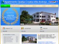 Frontpage screenshot for site: Villa Andreja Opatija Hrvatska (http://www.apartmani-bulic.hr)