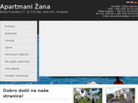 Frontpage screenshot for site: Apartmani Žana, Šilo (http://www.apartmani-zana.com)