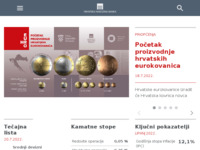 Frontpage screenshot for site: Hrvatska narodna banka (http://www.hnb.hr/)