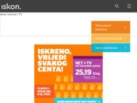 Frontpage screenshot for site: Iskon - internet/intranet servisi i konzalting (http://www.iskon.hr/)