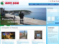 Frontpage screenshot for site: Novi dom nekretnine - Makarska (http://www.novidom-makarska.com)