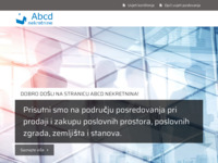 Frontpage screenshot for site: Abcd nekretnine (http://www.abcdnekretnine.hr/)