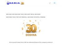 Frontpage screenshot for site: S.E.M.I.G. d.o.o. Zagreb (http://www.semig.hr)