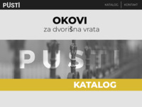 Slika naslovnice sjedišta: Pusti d.o.o. (http://www.pusti.hr)
