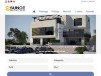 Frontpage screenshot for site: Sunce nekretnine (http://www.suncenekretnine.hr)