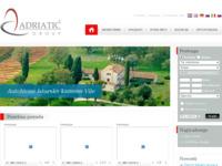 Frontpage screenshot for site: Nekretnine Hrvatska (http://www.adriatic-group.com/)