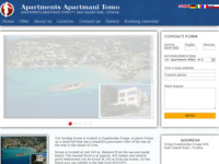 Frontpage screenshot for site: Privatni smještaj na otoku Rabu (http://www.gonar.com/)