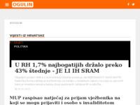 Slika naslovnice sjedišta: Internet portal - Grad Ogulin (http://grad-ogulin.com/)