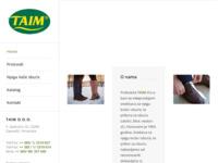 Slika naslovnice sjedišta: Taim d.o.o. (http://www.taim.hr/)