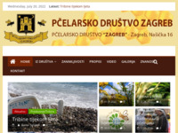 Frontpage screenshot for site: Pčelarsko društvo Zagreb (http://www.pdz.hr/)