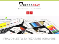 Frontpage screenshot for site: Repro-grav (http://www.repro-grav.com)