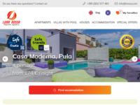 Frontpage screenshot for site: Agencija za turizam i poslovanje nekretninama Luna Rossa (http://www.lrossa.com)